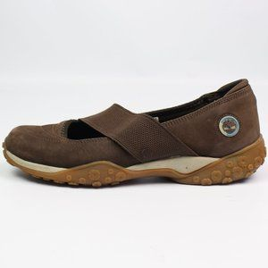 Timberland brown suede mary jane slip-on shoe